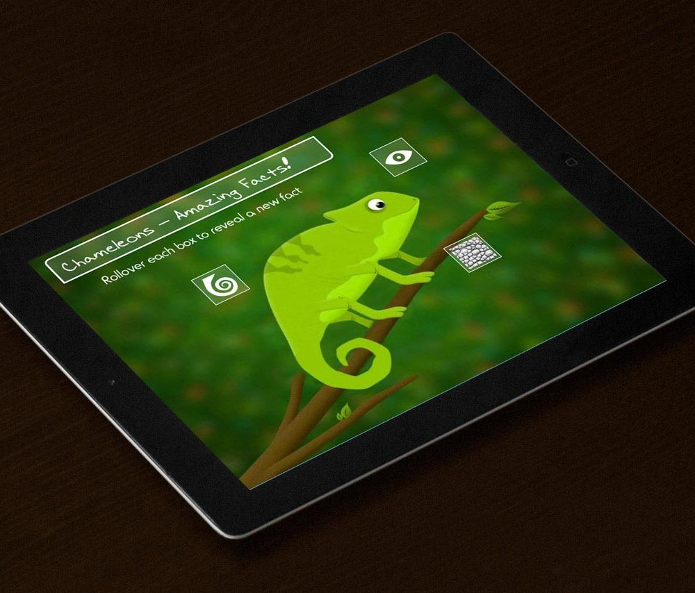 Chameleon Fun Facts on iPad