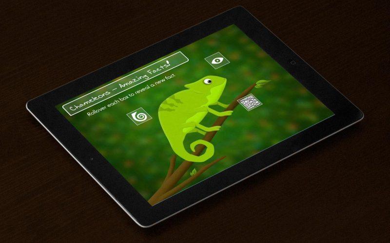 Chameleon Fun Facts on iPad