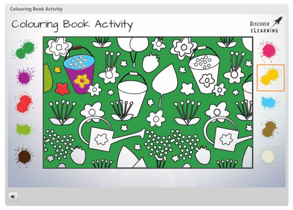 Colouring Book Articulate Storyline Template